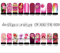 Wholesale Sticker Plastic Flower - 50pcs lot FREE SHIPPING + c1 to c8 series 160 styles nail art sticker water decals,Nail foil sticker