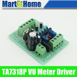 Wholesale Board Meter - VU Meter Driver PCB Completed TA7318P Board Stereo for Two VU Meters New #BV066 @CF