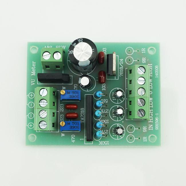 VU Meter Driver PCB Avslutad TA7318P Board Stereo för två VU meter Ny # BV066 @CF