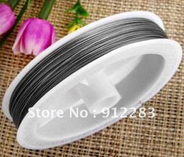 Wholesale Beading Tiger Cord - Free Shipping Wholesale Jewelry DIY 0.45mm 10 Rolls 100m Tiger Tail Wire Beading Cord,Fashion Jewelry Finding