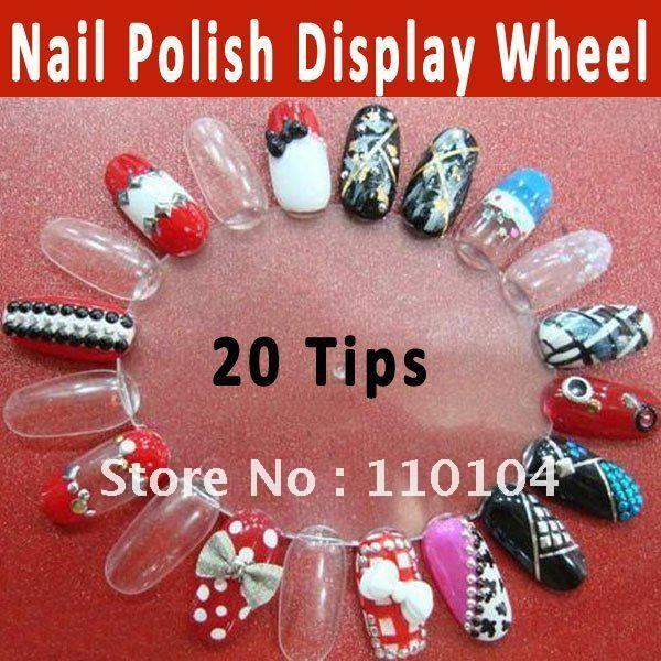 Nail art display wheel best nail 2017 5x 20pc nail art practice display wheel rack beige everbella prinsesfo Image collections