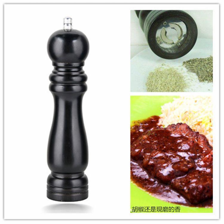 뜨거운 판매 클래식 7 인치 나무 나무 Peppermill 셰이 커 후추 양념 소금 밀 분쇄기 뮬러