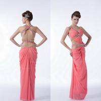 Wholesale India Pictures - New Arrival Fashion India Style Sexy Pink Backless High Quality Chiffon Evening Prom Dress PD131