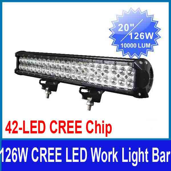 New 20 126w cree 42led3w work light bar off road suv atv 4wd 4x4 new 20 126w cree 42led3w work light bar off road suv atv 4wd 4x4 spot flood combo beam 9 32v 8820lm ip67 jeep truck driving fog lamp 126w cree led work mozeypictures Choice Image