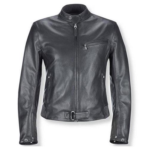 Chaquetas de cuero de los hombres concisas chaquetas clásicas delgadas cremallera ajustable en la parte superior del puño buen envío libre