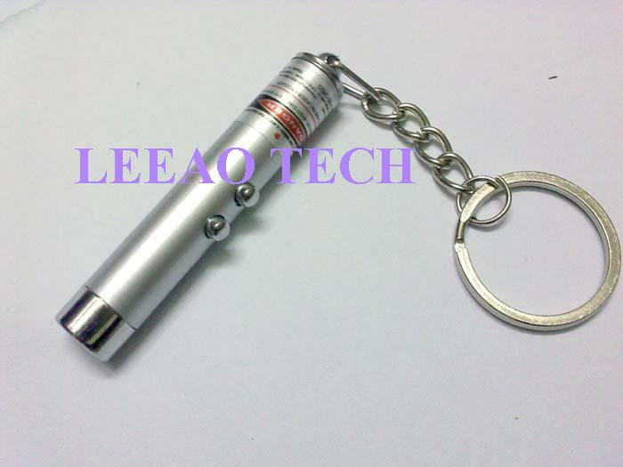 Best Price # New 2 in 1 White LED Light and Red Laser Pointer Pen Keychain Flashlight