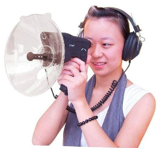 2012 100 Metros Sonido Distancia + Auriculares de calidad Bionic Ear Bird Watching Instrumentos Binoculares fo