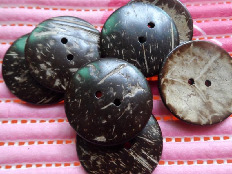 Botão de camisola 38mm botão de coco natural de grandes dimensões Frete Grátis