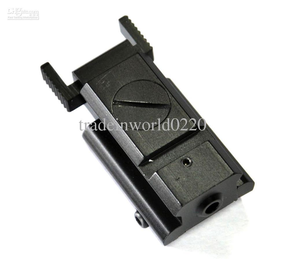 5pcs / lot 레드 닷 레이저 시력 전술 20mm 위커 레일 마운트 권총 건 컴팩트