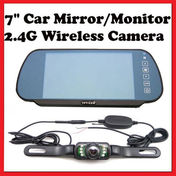 Acquista inversione di parcheggio di rearview 7 pollici tft lcd inverso del monitor dello - Test dello specchio ...