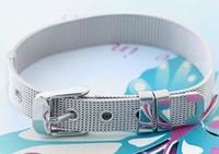 pulseiras de aço inoxidável slides encantadores venda por atacado-Preço de atacado 10 pçs / lote 8mm de Aço Inoxidável Pulseira fit 8mm Slide Carta / Encantos DIY Acessórios frete grátis