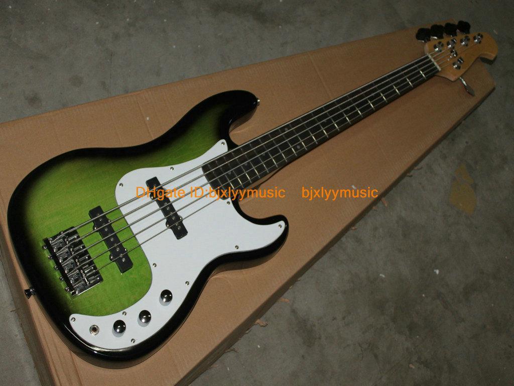 Green Bass Guitar 5 St...