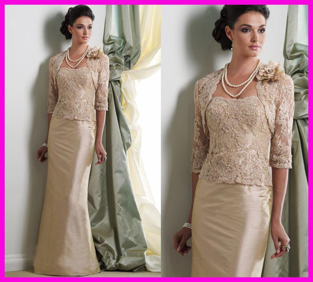 Unusual Mother Of The Bride Dresses: 2014 Real Vintage Sheer Lace V Neck Long Sleeves Mermaid