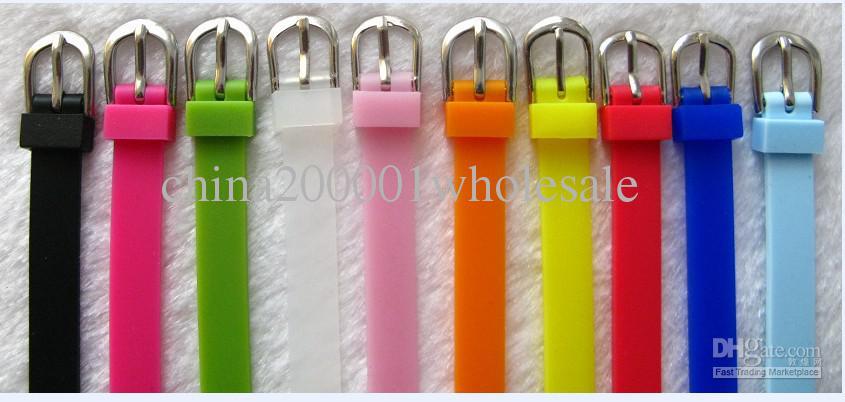 50st 8mm Gummi Armband Armband Fit 8mm Slide Letter / Charms DIY Tillbehör