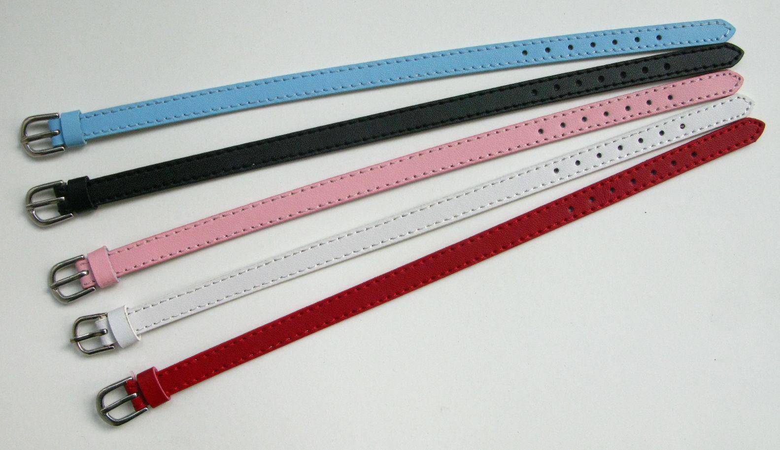 en cuir véritable bracelet Fit 8 mm Lettres / diapositives charme bricolage accessoires