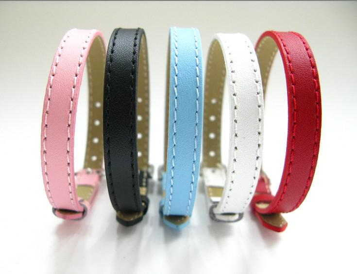 Genuine Leather Wristband Fit 8mm Slide Letters/charms DIY Accessory