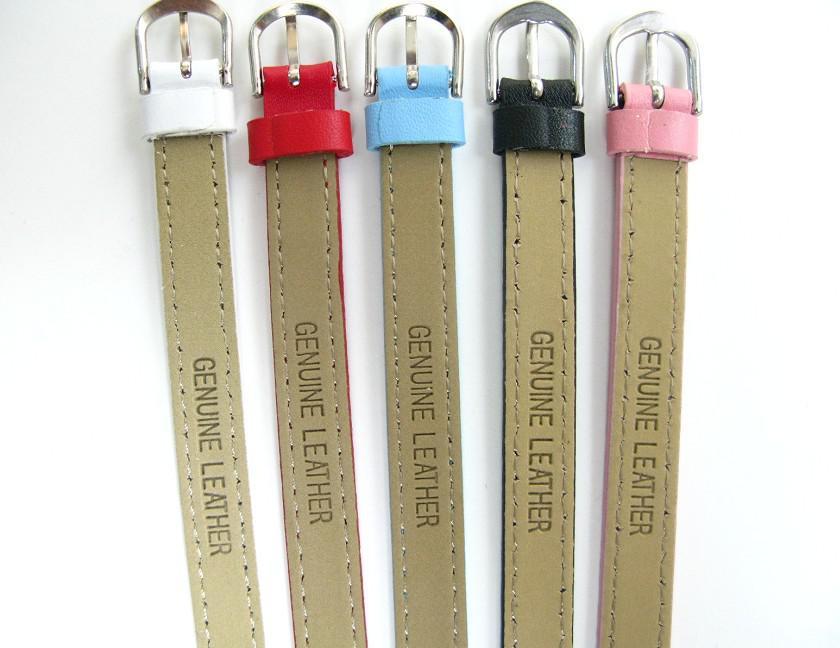 Äkta läderarmband Fit 8mm Slide Letters / Charms DIY Tillbehör