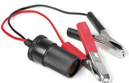 Wholesale Cigarette Lighter Cables - CAR battery clip with cigarette lighter connector cable New 10pcs