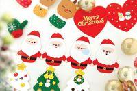ingrosso biglietti da visita naturali all'ingrosso-Biglietto di auguri Tema di Natale Confezione di scatole di biglietti d'auguri piegate imposta all'ingrosso Idea regalo di Natale