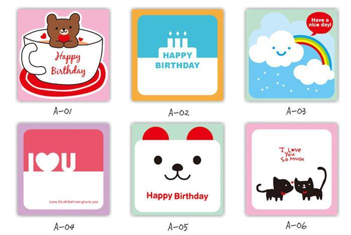free shipping Card + envelope Korea DOA happy life card notes, greeting cards Christmas gift