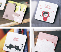 Wholesale Christmas Post Cards - free shipping Card + envelope Korea DOA happy life card notes, greeting cards Christmas gift