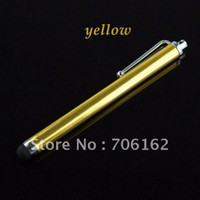 Wholesale I Phone 4s Screens - Brand New yellow Stylus Touch pen for iPad 2 3 iPhone 4 4S i PDA Smart Phone CB0018