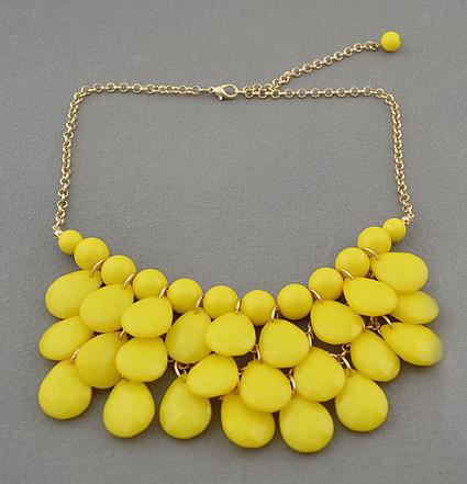 Pendant Statement Necklaces New Charming Gold Plated Multilayer Resin Drop Tassels