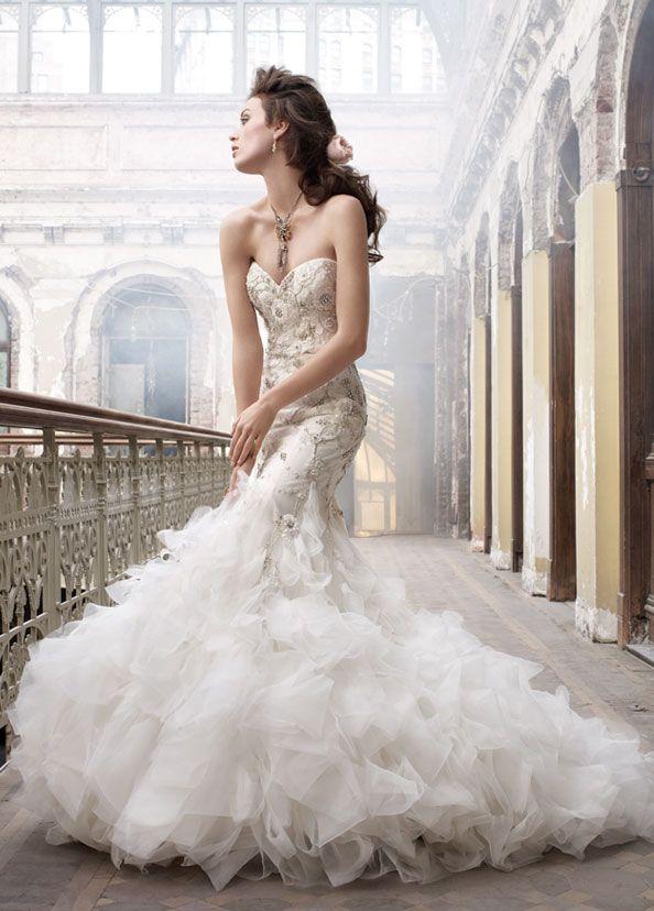 Latest High Quality Glamorous Mermaid Wedding Dresses Sweetheart ...