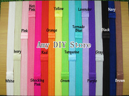 Wholesale Shimmer Elastic Headbands - 70pcs lot New hair accessorise About 5 8'' Width Interchangeable Shimmer Elastic Headbands Hair Headband,Hair Accessories,Hair Band 1.5CM