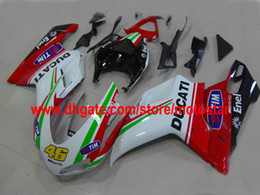 100% adapté pour DUCATI 848 1098 1198 1098s 1198s 2007 2008 2009 2010 2010 moulage par injection de carrosserie
