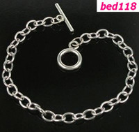 Wholesale Dangle Charms Fit Bracelet - Hot ! 10pcs Stainless Steel Chain Bracelet Fit Dangles Charms 17-21cm