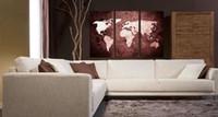 pintura a óleo do mapa mundial venda por atacado-Lona de pintura a óleo Abstract World Map artwork Handmade home office decoração wall art decor Presente