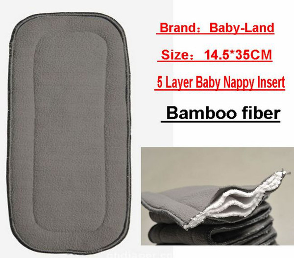 top popular Bamboo Fiber 5-layer Nappy Liners Baby Cloth Diaper Inserts Pads Liner For Cloth Nappies Liners 50PC 2021