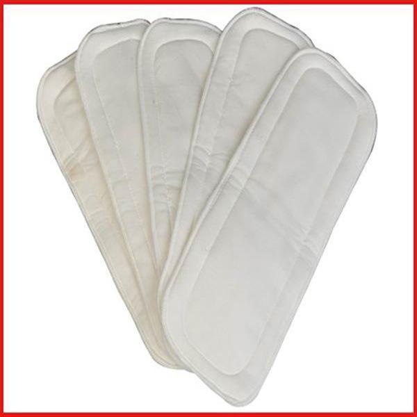 الخيزران الألياف 5-layer حفاضات الطفل الحفاض القماش حفاضات إدراج سادة بطانة القماش الحفاظات بطانات 35 * 17.5 سنتيمتر