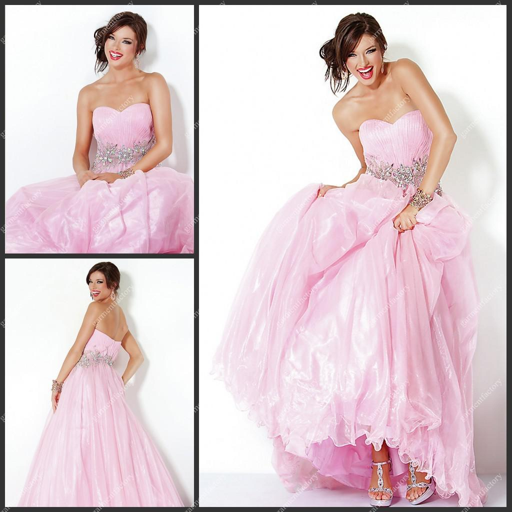 Baby Pink Prom Dress Princess Style 2013 Fashionable Sweetheart ...