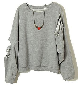 2018 Oversized Ripped Details Sweater Top From Teenmind, $18.19 ...