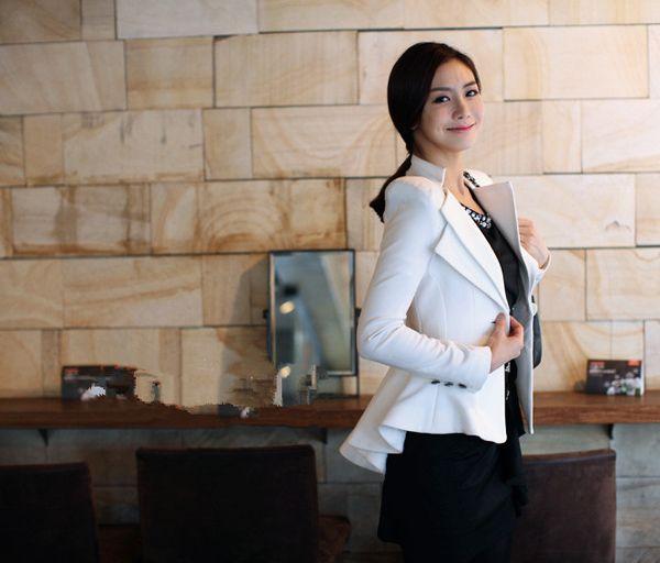 Frauen Mantel High-End-Slim One Button Blazer Anzüge Tuxedo Damen Kleidung Revers Tunika Jacke Anzug Oberbekleidung