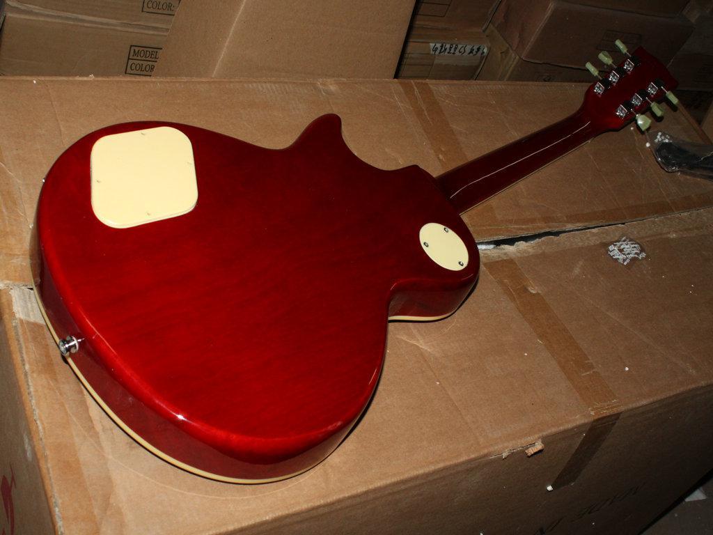 Chegada nova Instrumentos de Alta Qualidade cereja Guitarra Elétrica