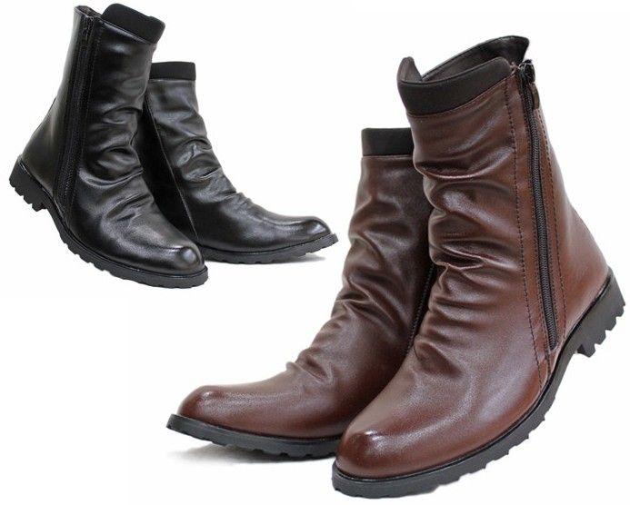 Hotsale Men S Shoes Ankle Boots Black Brown Punk Wrinkles