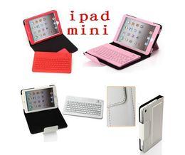 Wholesale Ipad Mini Keyboard Folio Pink - For iPad Mini 2 in 1 Wireless Bluetooth Keyboard & PU Leather Case Cover Stand Black white,pink red