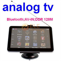 Wholesale 7 inch Touch Screen bluetooth AV IN GB DDR128M WINCE6 free map gps analog tv