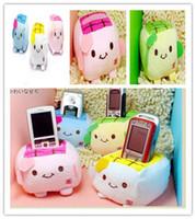 Wholesale Tofu Cell Phone Holder Wholesale - Free shipping Block Popular Japanese Cell Phone Special Tofu Cute   Tofu Plush Mobile Phone Holder