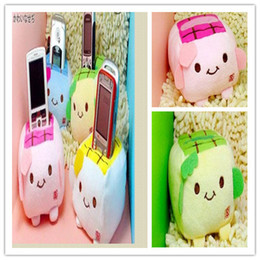 Wholesale Tofu Mobile Phone Holder - Kawaii 30PCS Plush Stuffed Toy; Japan TOFU DOLL; Cell Mobile Phone Stand Holder Pouch Case