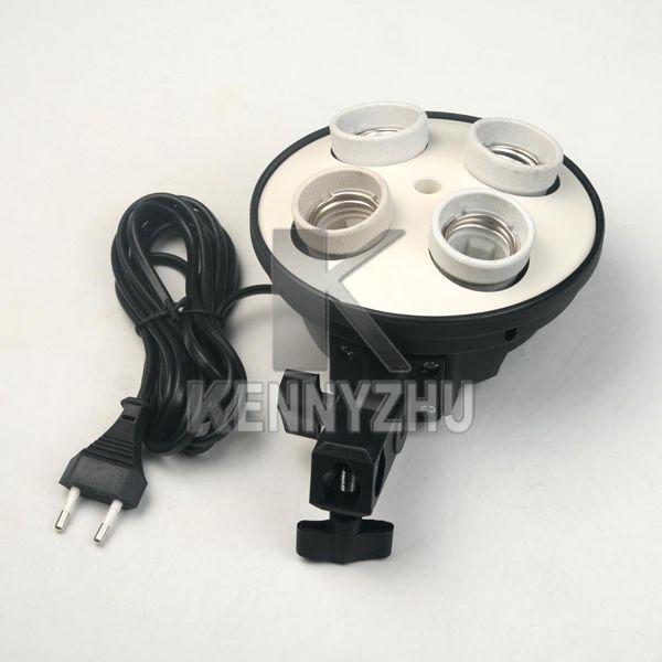 E27 4 소켓 등 받침대 사진 램프 전구 홀더 플래시 우산 받침대 받침대 연속 점등