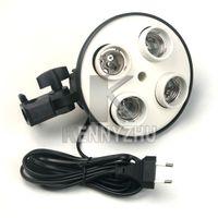 fotolampenständer großhandel-E27 4 Sockelleuchte Ständer Foto Lampe Lampenfassung Blitz Regenschirm Halterung kontinuierliche Beleuchtung