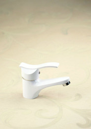 Wholesale White Spray Painting finish newly Basin Sink Brass Mixer Tap Faucet NC