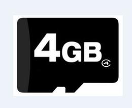 Wholesale Memory Microsd 4gb - Genuine 4GB Micro SD microsd TF trans flash SDHC 4 GB Memory Cards FULL CAPACITY free SD adapter
