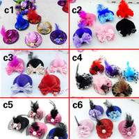 Wholesale Hat Accessories Order - Girls hair accessories Mini hat hairpin hair clips could mix order girls hair clips 20