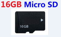 Wholesale 16g Sd Cards - REAL 16GB MICRO SD TF MEMORY CARD Class 6 SDHC 16 GB MICRO TF 16G with Adapter in clear box