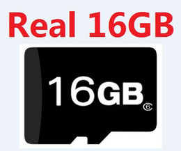 Wholesale Memory Cards Gb Wholesale - Genuine 16GB micro Memory Card Class6 Class 6 Microsd SD HC Real 16 GB class6 TF cards with adapter